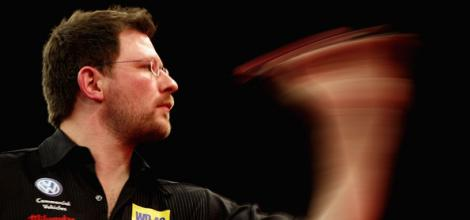 James Wade in darts action.